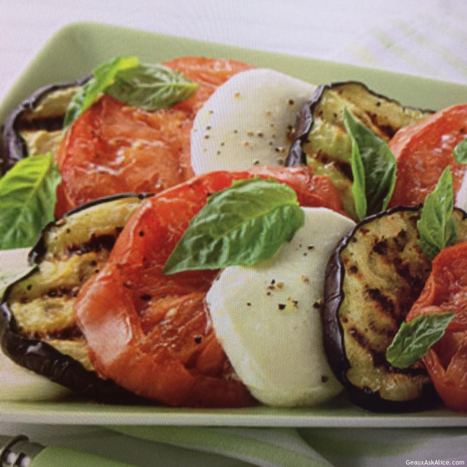 Grilled Eggplant and Tomato Salad - Geaux Ask Alice!