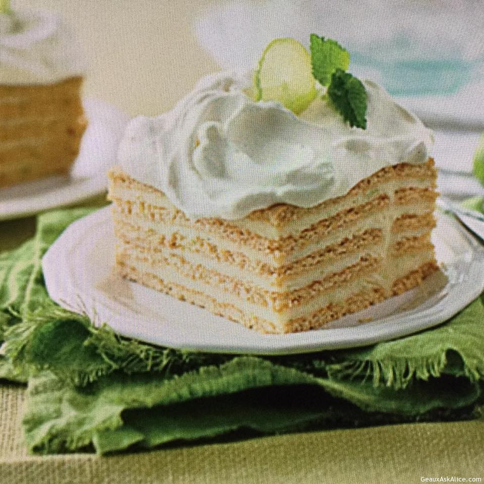 Tangy Key Lime Icebox Cake