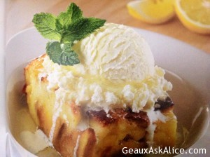 Tangy Limoncello Bread Pudding