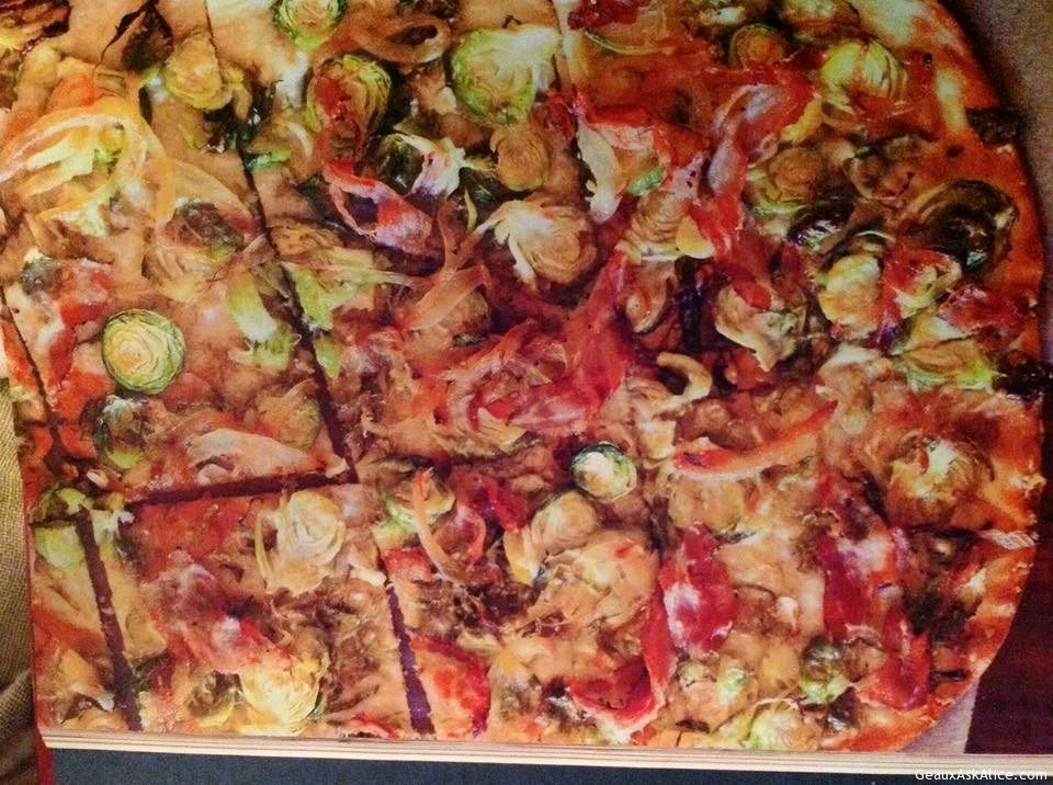 Brussels Sprout, Pancetta And Parmesan Flatbread