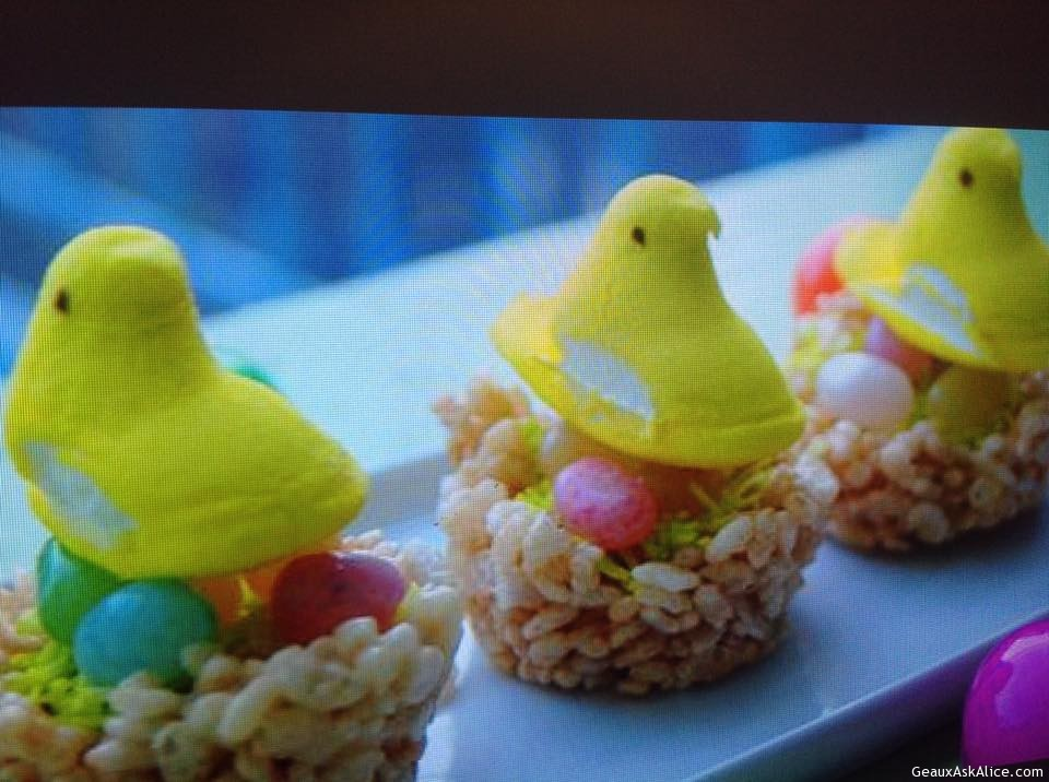 Easter Peep Egg Nests