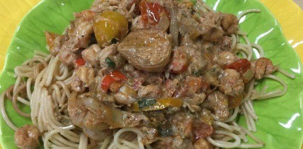 Creamy Roasted Tomato-Crawfish Pasta