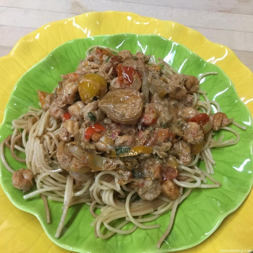 ... crawfish pasta save print creamy roasted tomato crawfish pasta recipe