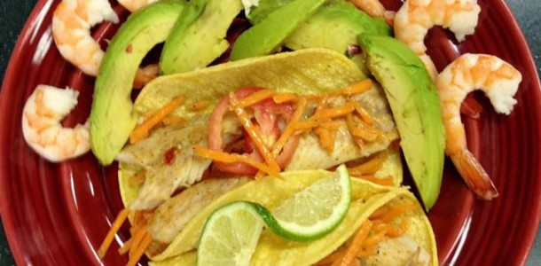Fish Tacos with Chipotle Cream and Sassy Slaw