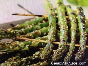 Grilled Skewered Asparagus