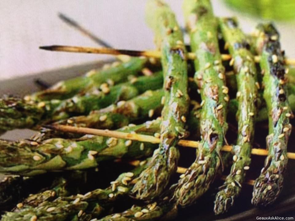 Grilled Skewered Asparagus