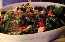 Grilled Kale with Garlic and Bacon