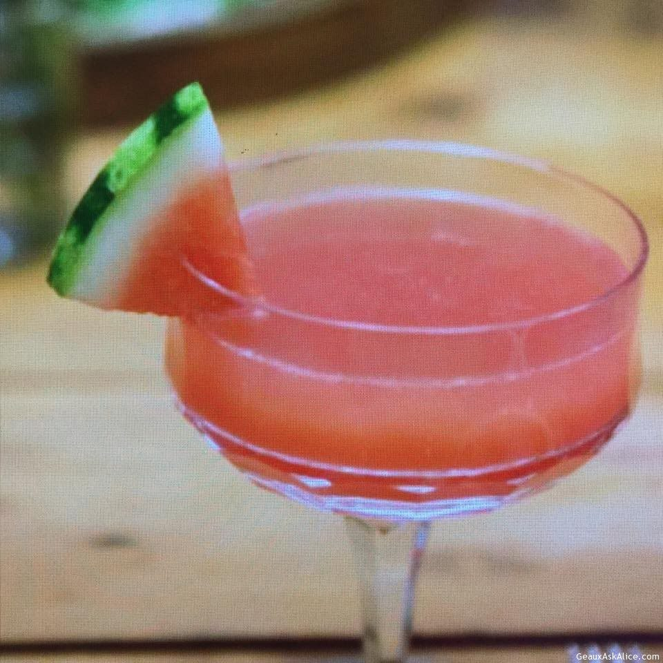 Refreshing Watermelon Champagne Cocktail