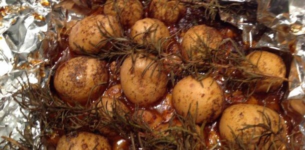 Roasted Rosemary Baby Yukon Gold Potatoes
