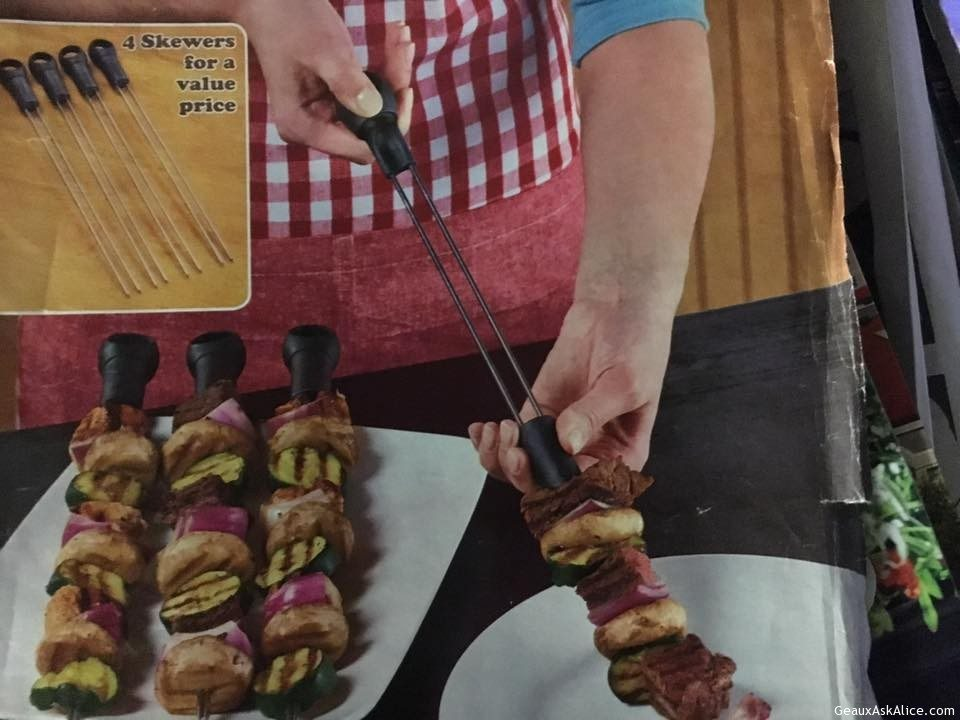 Today's Gadget Is The Slide And Serve Skewers!