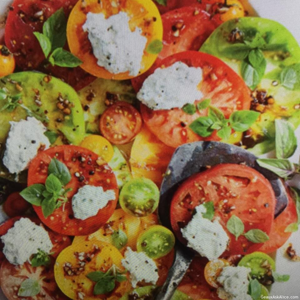 Fresh Herbed Ricotta Tomato Salad