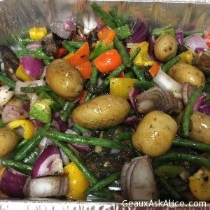 Tantalizing Roasted Potatoes, Green Beans and Veggies