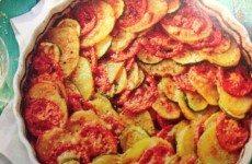 Tomato, Potato, Zucchini Casserole