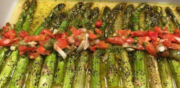 Basil Pesto Roasted Asparagus