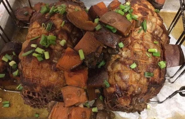 Deboned Chicken Stuffed With Boudin Dressing