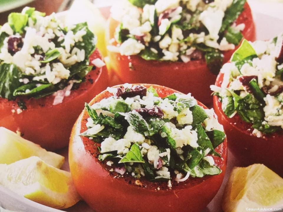 Greek Lover's Stuffed Tomatoes
