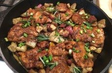 Delicious Balsamic Glazed Chicken Thighs with Veggies and and Potatoes