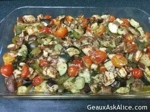 Easy Baked Zucchini, Eggplant and Tomato Casserole
