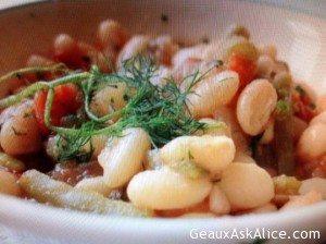 Greek Potato, Bean and Veggie Stew