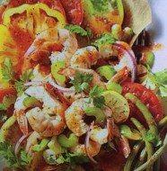 Pickled Shrimp and Tomato Salad