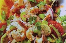 Pickled Shrimp and Tomato Salad