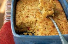 Sweet and Savory Corn Fritter Casserole