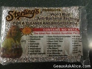 Today's Gadget is the Sterling Scrubber!