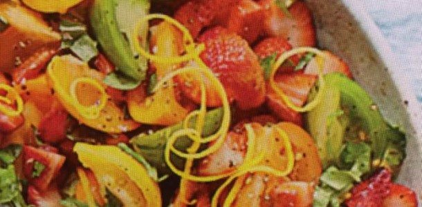 Fresh Strawberry and Tomato Combo Salad