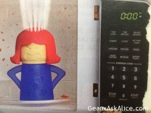 Today's Gadget is the Angry Mama Microwave Cleaner!