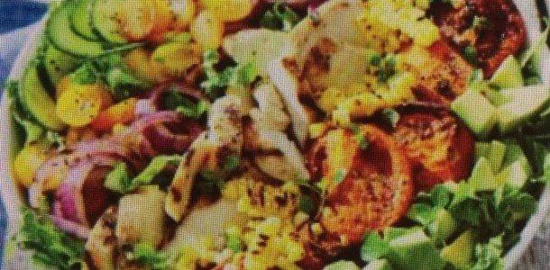 Fantastic Grilled Chicken and Veggie Salad