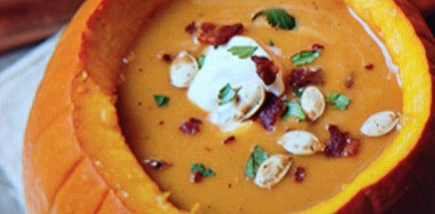 Paula Deen's Pumpkin and Cannellini Bean Soup