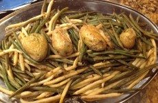 Roasted Wax Beans with Yukon Gold Potatoes