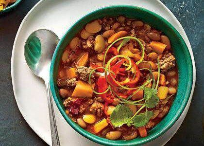 Spicy and Smoky Turkey and Yam Chili