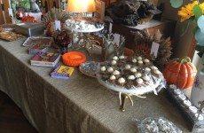 Dessert Table set. Lots of help from my friend Jenny Beauregard!