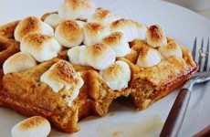 Sweet Potato and Marshmallow Waffles