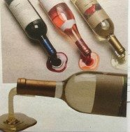 Today's Gadget is the Spilled Wine Bottle Holders!