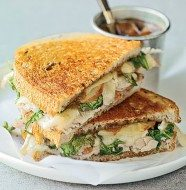 Warm and Crispy Turkey, Brie and Apple Sandwich