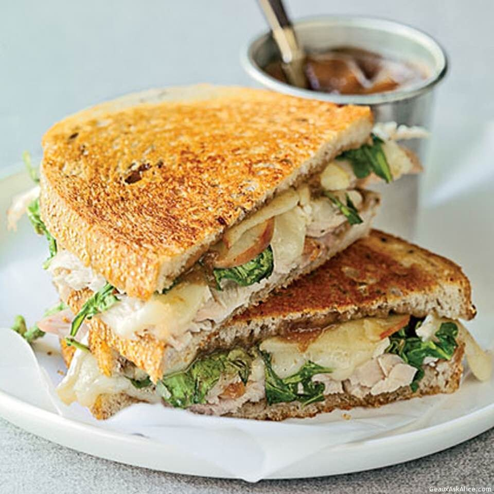 Warm And Crispy Turkey, Brie And Apple Sandwich