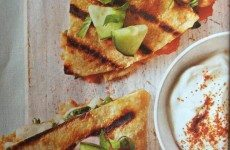 Yam Quesadillas with a Creamy Cucumber Relish