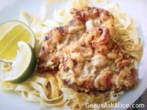 Chicken Fried Steak with Egg Noodles