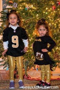 Girls r ready! Who Dat in action tonight. Going up against the Dirty Birds in Atlanta!