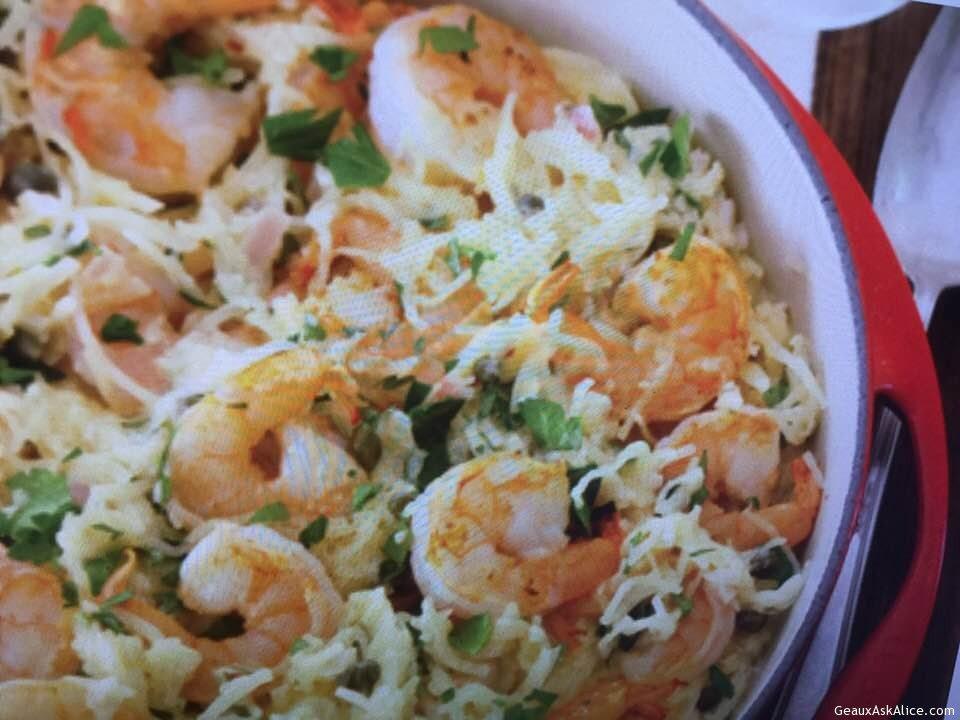 Scrumptious Shrimp Scampi And Spaghetti Squash