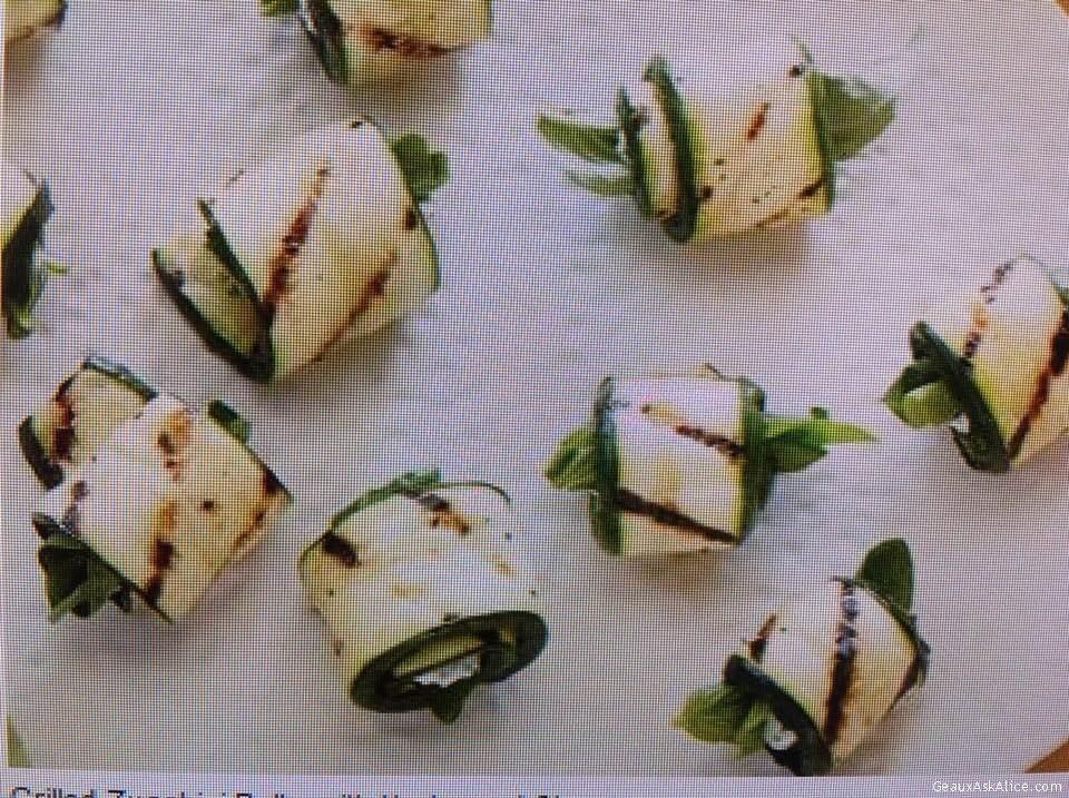 Grilled Stuffed Zucchini Rolls
