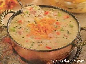 Luscious Ham and Cheddar Cheese Soup