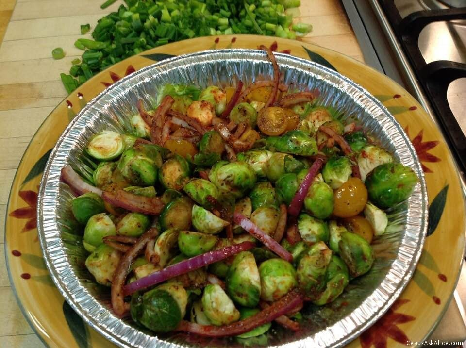Tangy And Peppery Roasted Brussels Sprouts