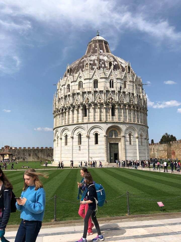 Cathedral Next To Pisa Tower