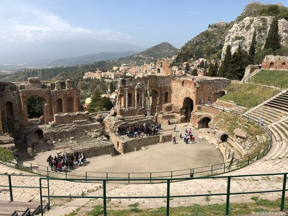 Sightseeing At Coliseum Here In Taormina