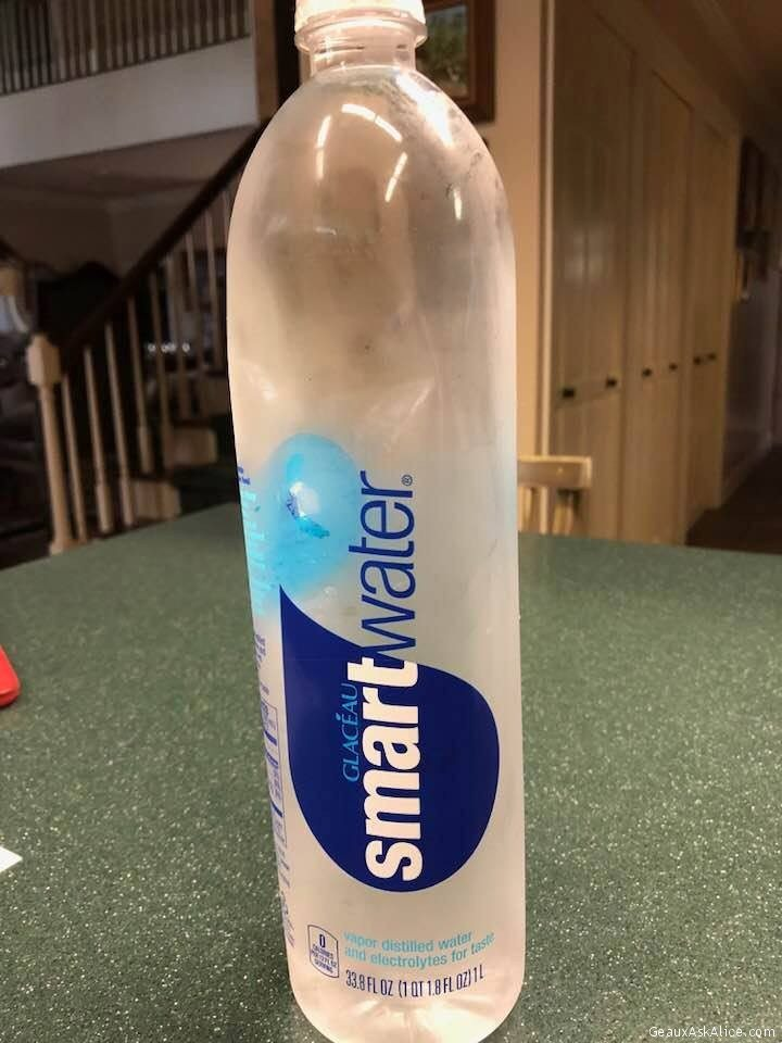 Smart Water Vs. Girls'Scout Chocolate Thin Mint Cookies