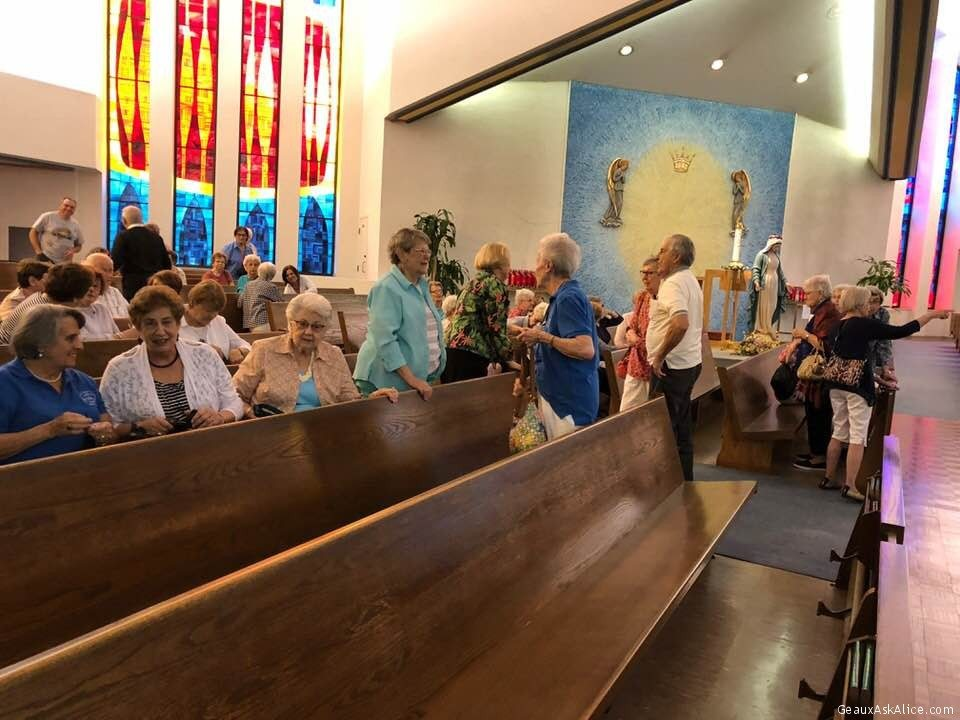 A Nice Turnout For The May Rosary Gathering Given By Queen Of Angels Senior Angels