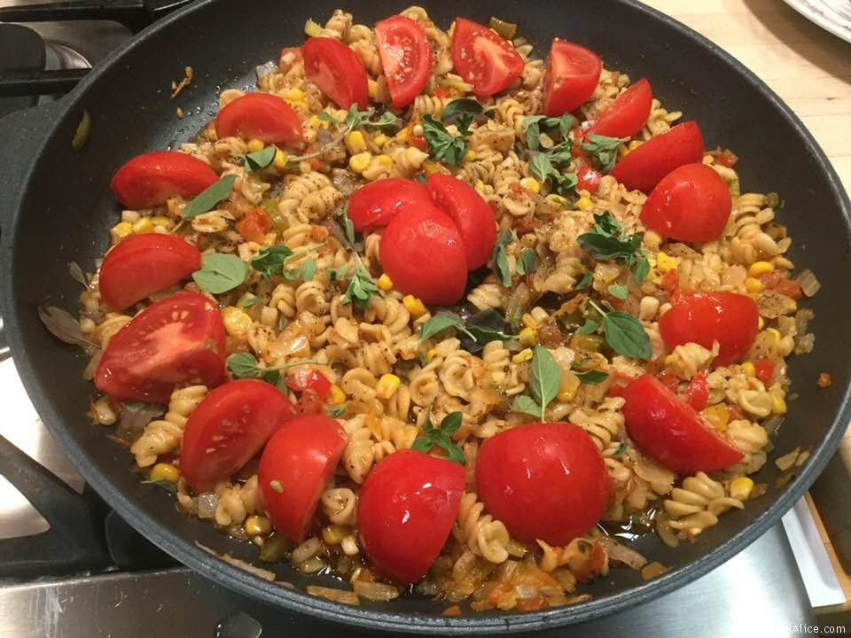 Fresh And Easy Tomato Pasta In A Skillet